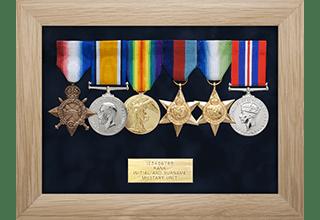Standard Medal Display Frame