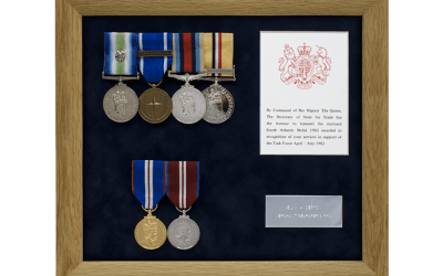 Military Medal Display Frame Case Study-Anderton
