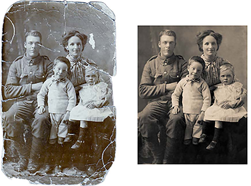 Photograph Restoration Before and After