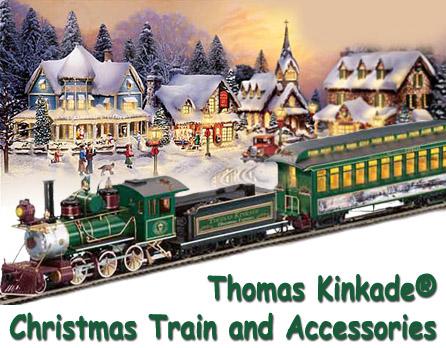 Thomas Kinkade Christmas Train And Accessories