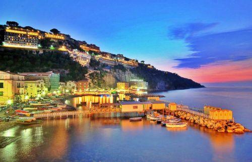 Город Сорренто в Италии