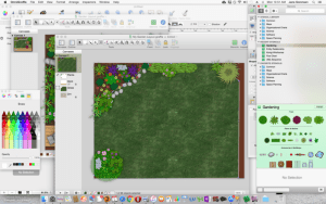 Designing the garden in OmniGraffle