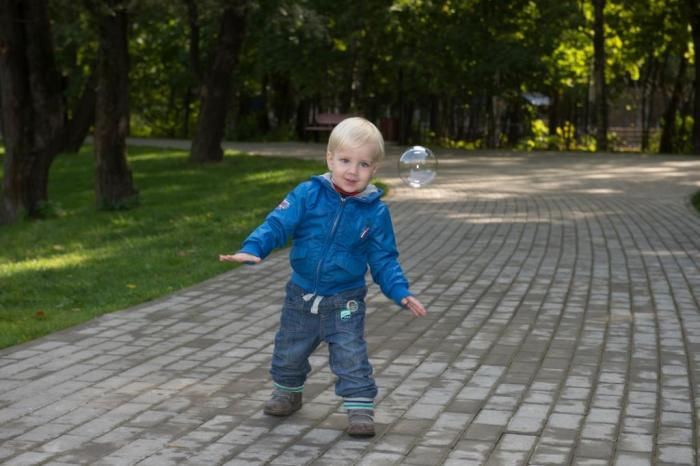 baby in Moscow park