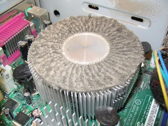 пыльный кулер процессора