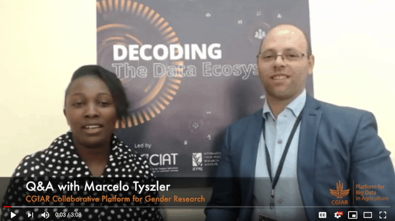 Q&A with Marcelo Tyszler – CGIAR Gender Platform