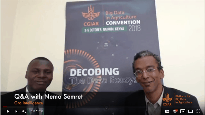 Q&A with Nemo Semret from Gro Intelligence