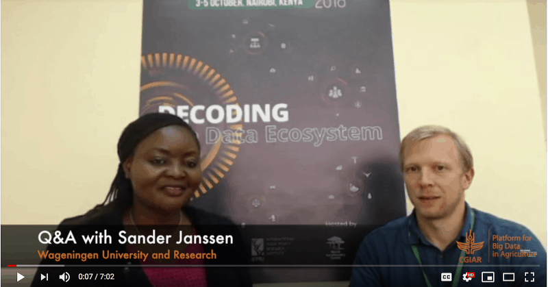 Q&A with Sander Janssen from Wageningen University