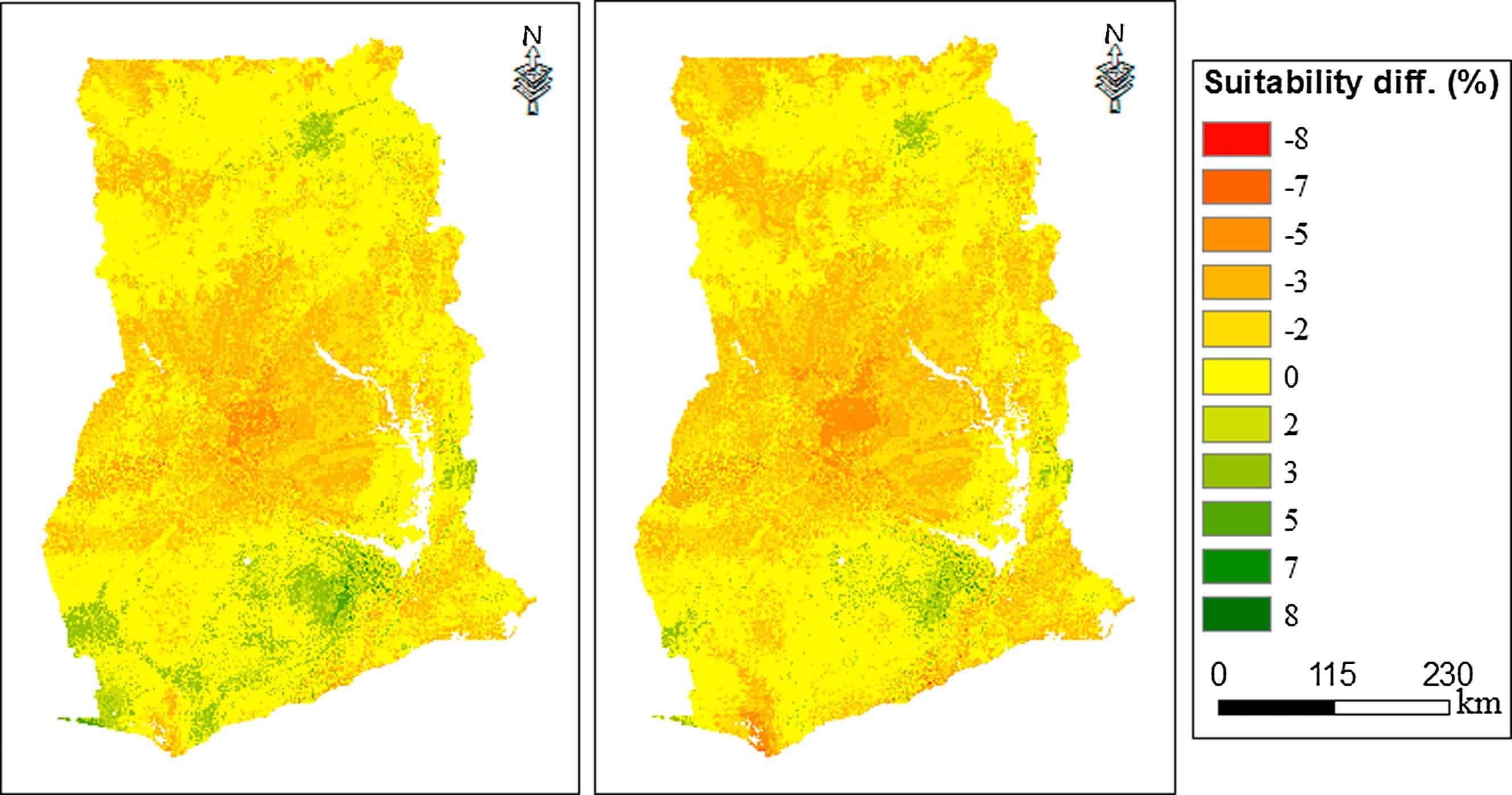 Mapping Irrigation Suitability under Climate Change in Ghana