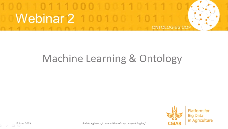 Webinar – Can machine learning technologies be useful to create or complete ontologies in agriculture?