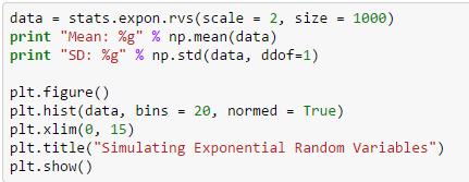 exponential random variables
