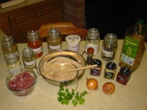 Libellule's Chicken Balti - Ingredients