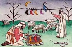 while shepherds