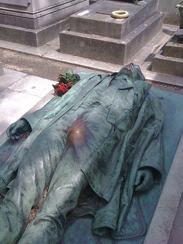 The tomb of Victor Noir in Père Lachaise Cemetery in Paris has become a fertility symbol