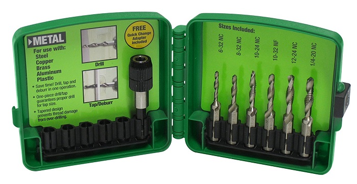 Greenlee DTAPKIT 6-Piece Combination Drill and Tap Set