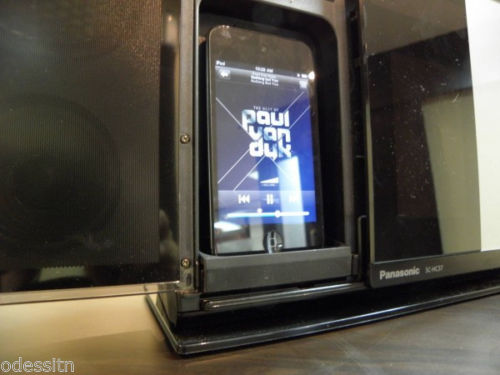 Panasonic SC-HC37 Audio Stereo System Auto-Sliding Dock for CD iPod iPhone back