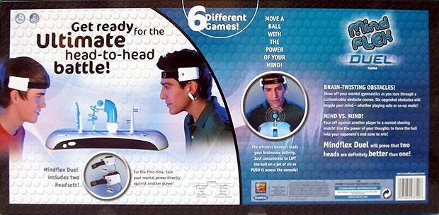 MINDFLEX DUEL Game Mattel Mind Flex mental brainwave 1 - 2 Players Ages 8+