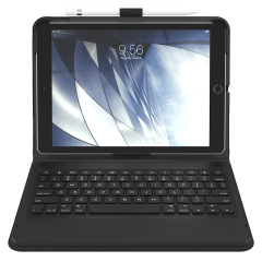 Zagg – Messenger Folio Backlit Bluetooth Keyboard Case For Apple Ipad Air 10.5 – Charcoal