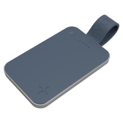 Tylt – Flipcard Power Bank For Apple Lightning Devices 5,000 Mah – Gray