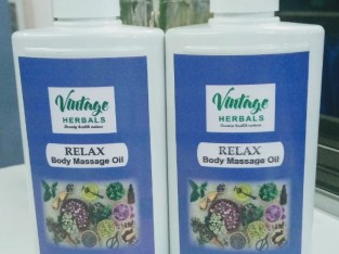 Vintage Herbals Relax Massage Oil