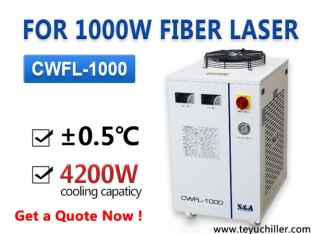 Air cooled laser water chiller for 1KW fiber laser cutting equipment
