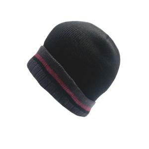 Men s Heavy Rib Hat with Striped Cuff ea608401a18c