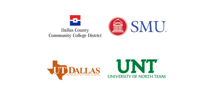 SMU, DCCC, UNT & UTD Logos