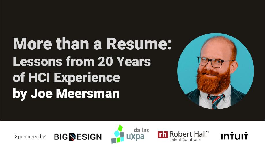 Joe Meersman talk