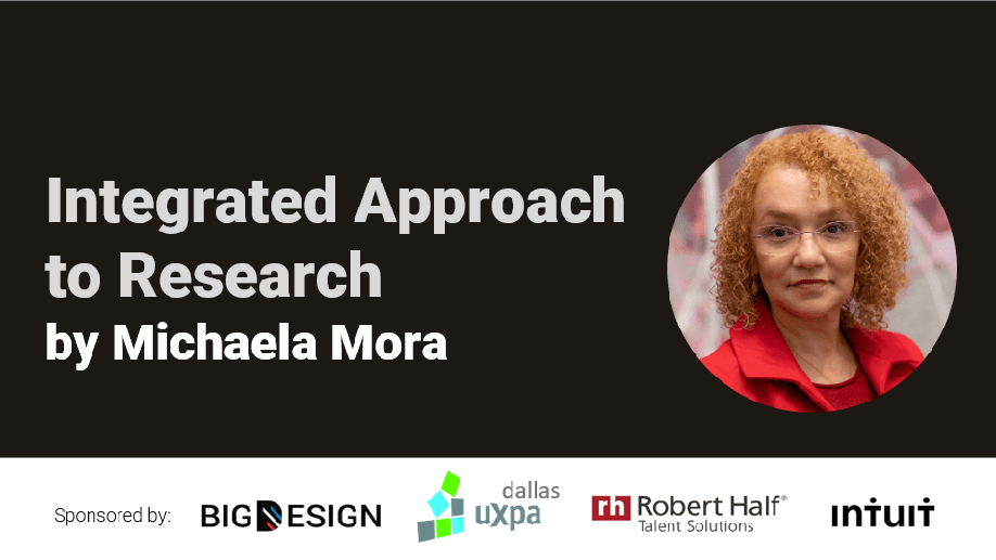 Michaela Mora talk on integrated research methods