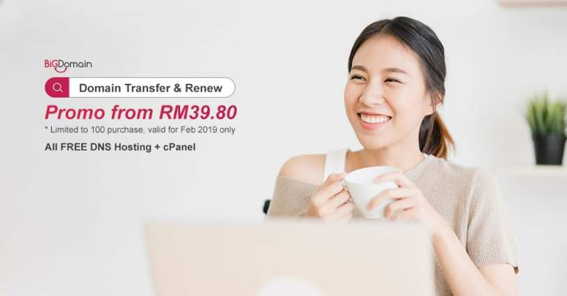 【SALES !!】Domain Transfer & Renew! DON'T MISS OUT! 1