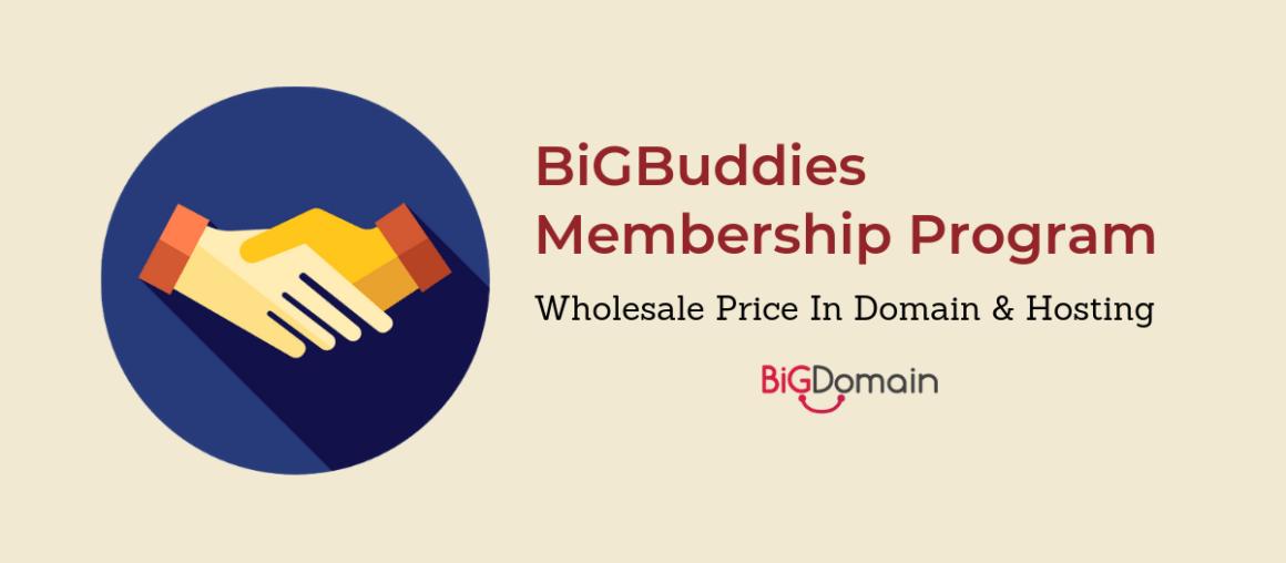 BigDomain is launching BigBuddies Program ! Buy / Resell domain from RM4.90