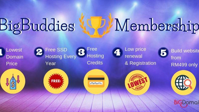BigDomain Gold Membership - BigBuddies!