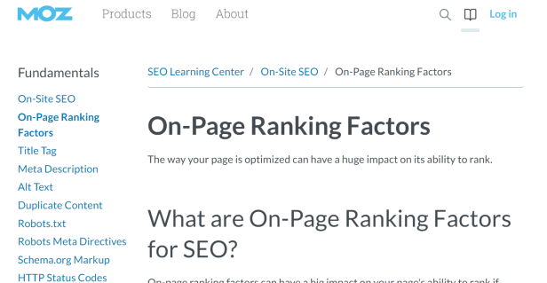 Refer : Reference Readings on 2019 SEO On Page Factors by MOZ.com