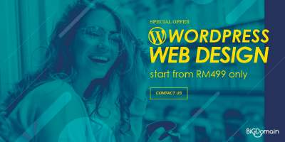 WordPress Web Design promotion start from RM499 only !!! 7
