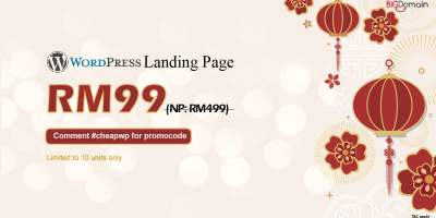 Get your WordPress landing page at RM99 only 3