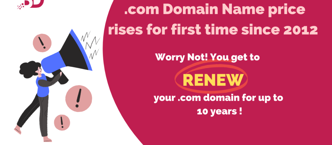.com Domain Name Price Rises for First Time since 2012