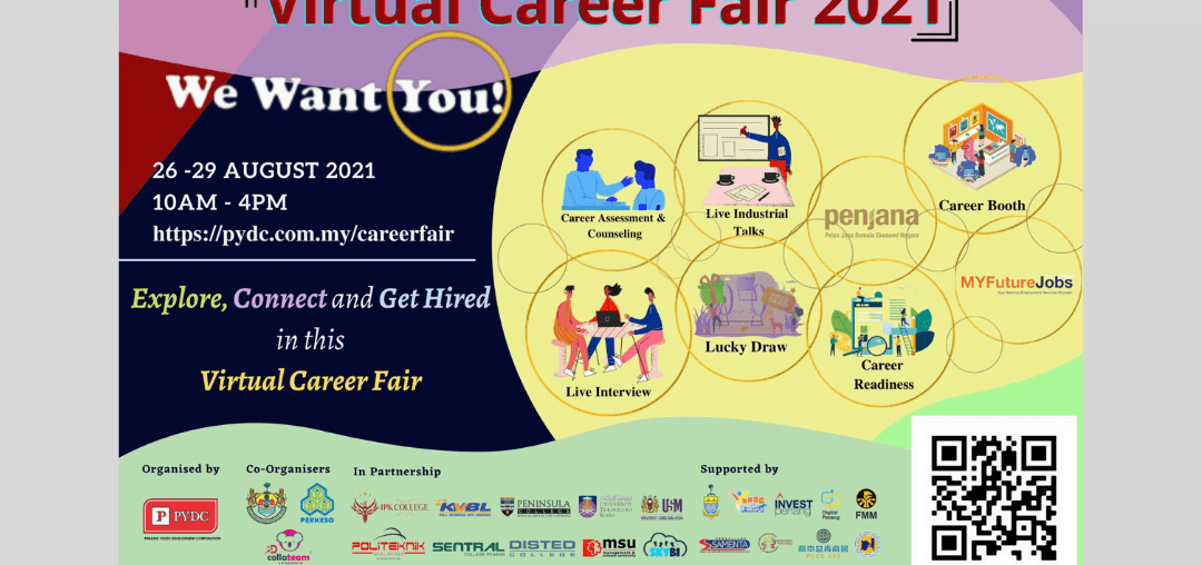 Largest Virtual Career Fair 2021 In Collaboration With PERKESO And More!