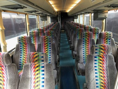 bus 37 interior 2 - 37 Passenger<br>Coach Tour Bus</br>Limo #39