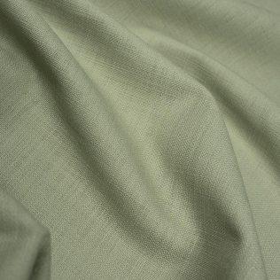 Linen Blend Fabric Light Green Mill Over Run Production Value Option