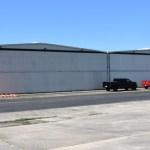 Hangar with door shut
