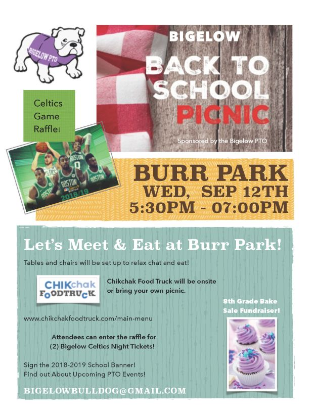 Let's Meet & Eat at Burr Park on Sep 12th