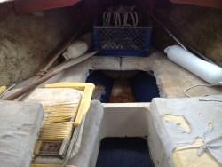 Inside Cuddy Cabin