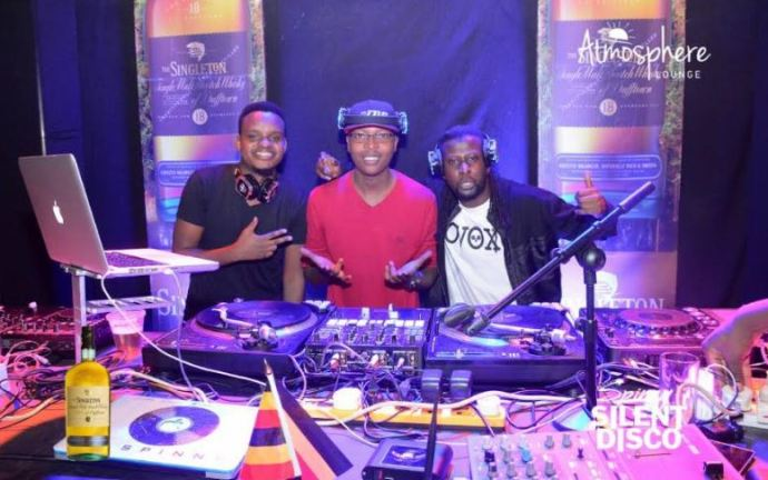 DJ Spinny silent disco party