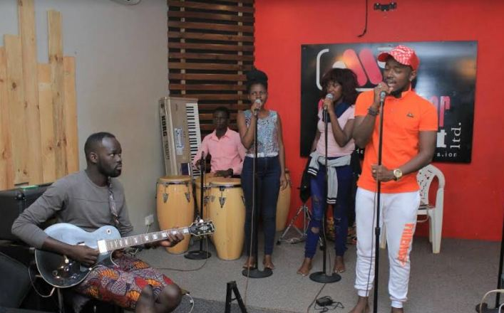 Ykee Benda  album listening party rehearsals