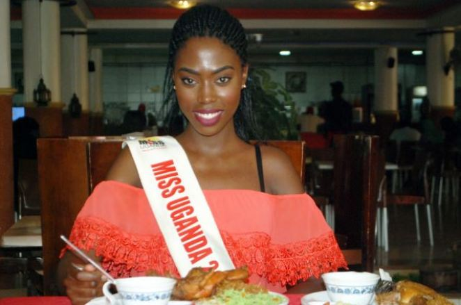 Miss Uganda Leah Kagasa  treats her fans to a luncheon