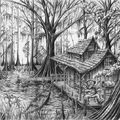 bayoucountryblackandwhite