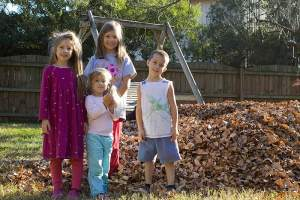 Coming Home and Raking Leaves