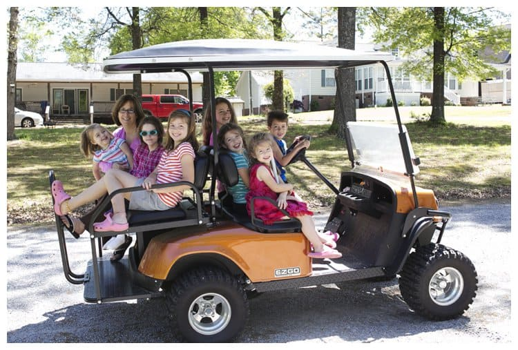 How many can you fit on a golf cart?