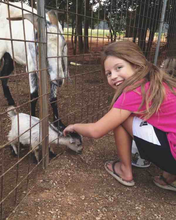 Bekah and baby goat