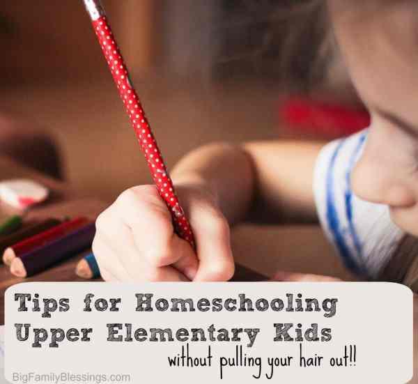 tips for homeschooling upper elementary