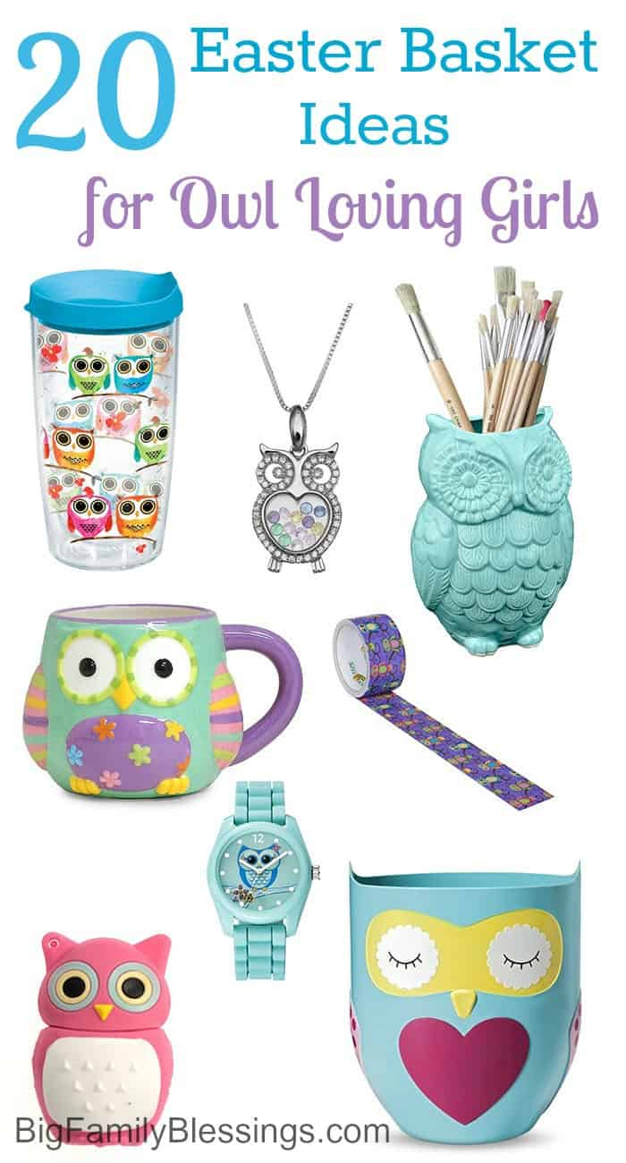 20 Easter Basket Ideas for an owl obsessed girl
